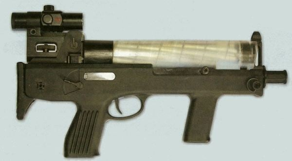 Chang Feng submachine gun with helical magazine