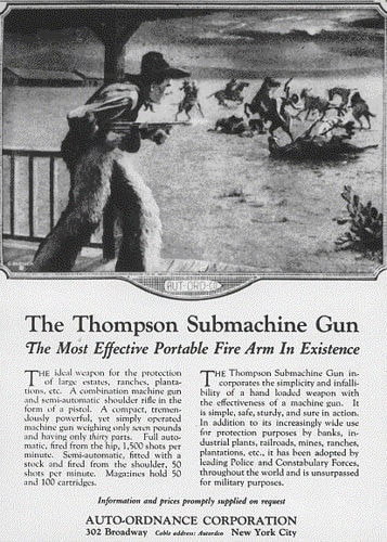 Thompson subguns were marketed for home protection