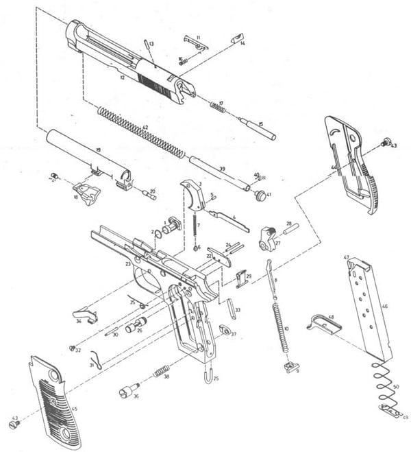 Beretta M1951 diagram.