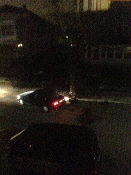Here is the bomb detecting robot inspecting the vehicle from the back right passenger seat. (Taken at 2:49:19AM)