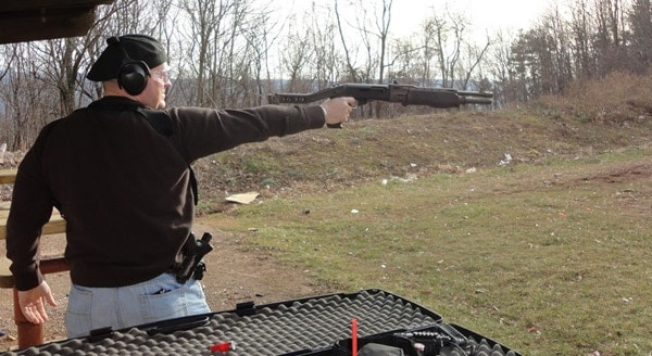 SPAS12, fired one handed