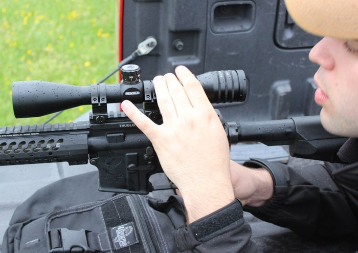 redfield scope being used on rifle