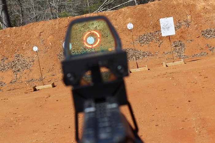 redring shotgun sight in action at the range