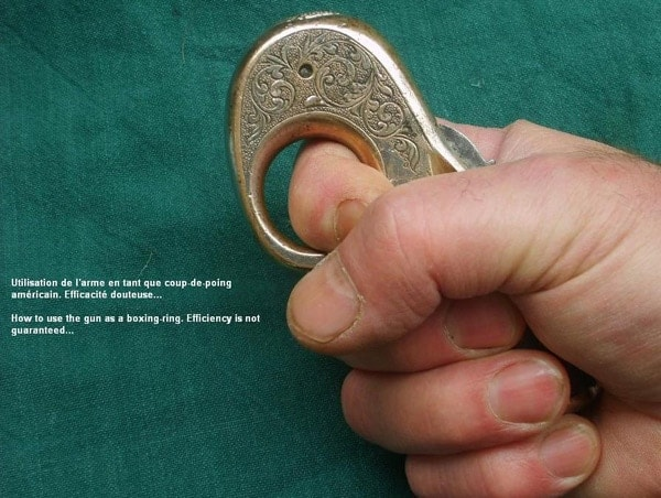 My Friend in the held in recommended knuckle duster position