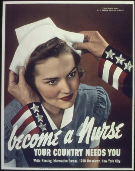 Become a nurse - Your country needs you (Photo credit: Wikimedia)