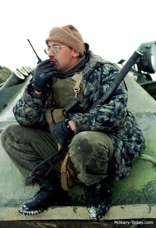 AS Val in the field in Chechnya