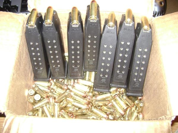A big ol' box of expensive 10mm ammo