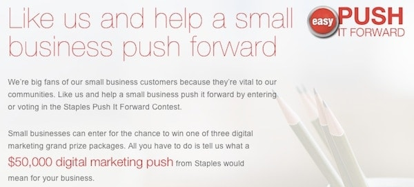 Staples PUSH it Forward Contest