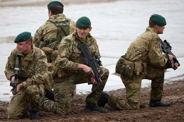 L85 with Royal Marine Commandos in 2013