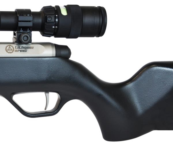 LA101 CrossOver's steeply angled pistol grip.
