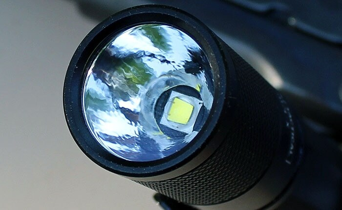 view of flashlight