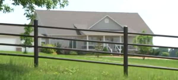The home where the shooting took place. (Photo credit: KSPR, Springfield)