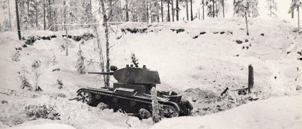 Soviet T-26 tank.