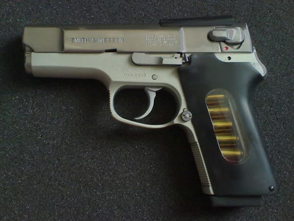 A S&W M39 modified to become a ASP 2000.