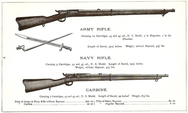 Army Navy and carbine versions