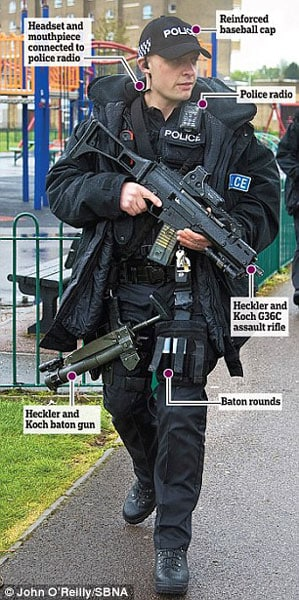 "Is the ""gun-free zone"" of England one of the safest places in the country? (Photo credit: John O'Rielly/ SBNA)"