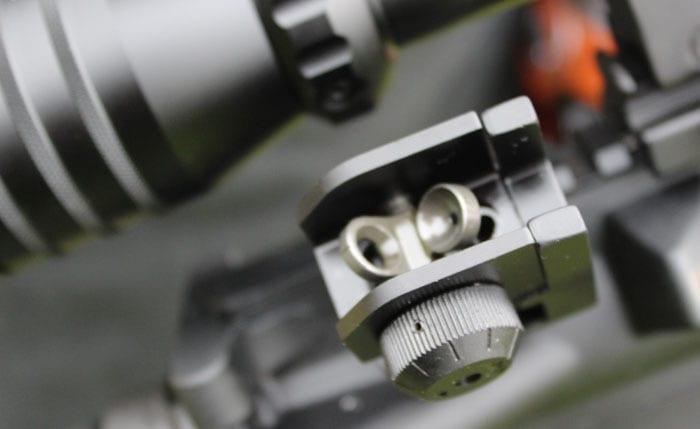backup sight on a rifle