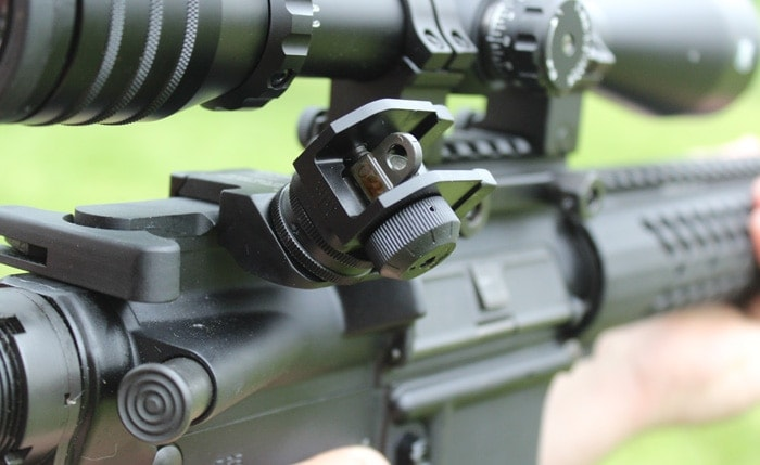 scope view of rifle