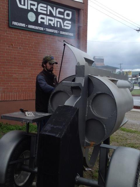 revolver gun grill