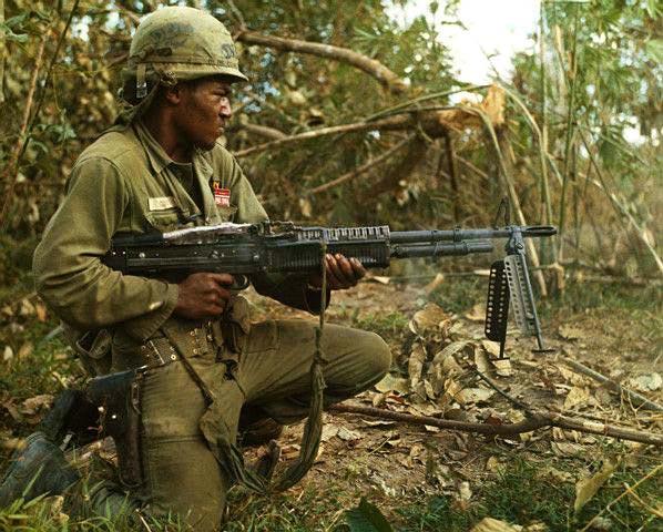 M60 gunner in Vietnam