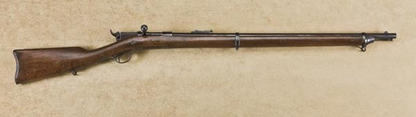 Navy issue gun with full length stock.