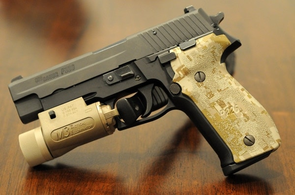 Sig Sauer P226 with light