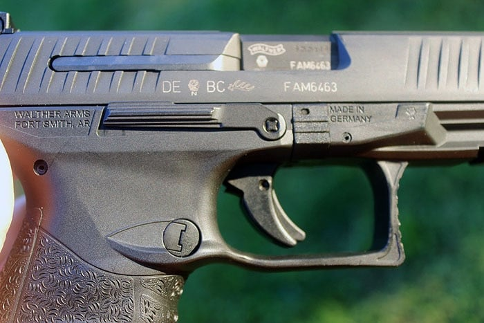 close up view of walther ppq