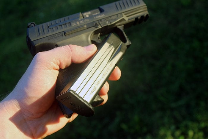 taking a mag out of a ppq m2