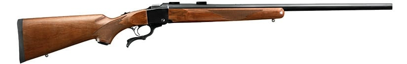 Ruger No.1 falling block action rifle.