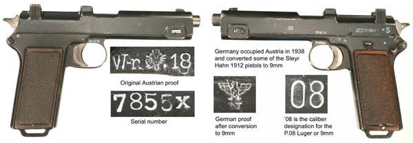 Steyr 1912 markings