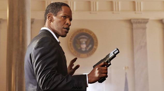 The President with a gun...