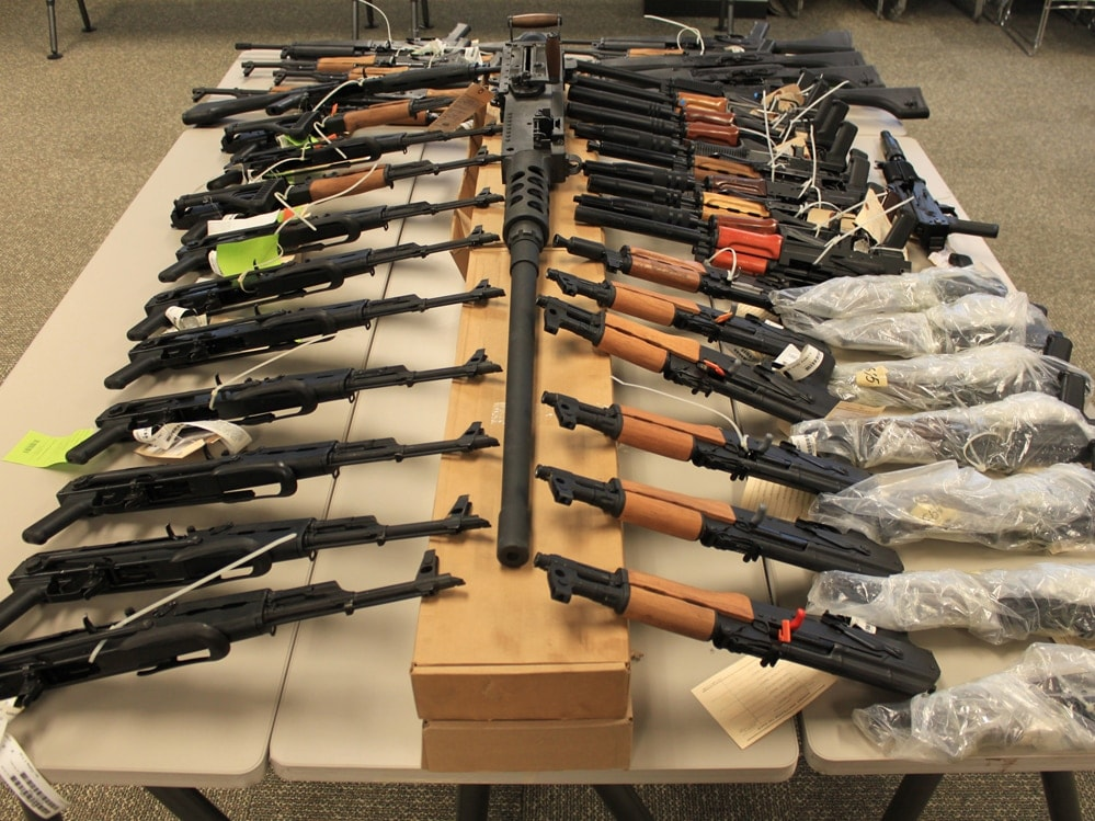 Some of the guns recovered from Fast and Furious in 2011