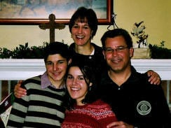Blake Lammer with his family (Photo credit: CBS)