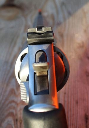 The rear sight of the 686.