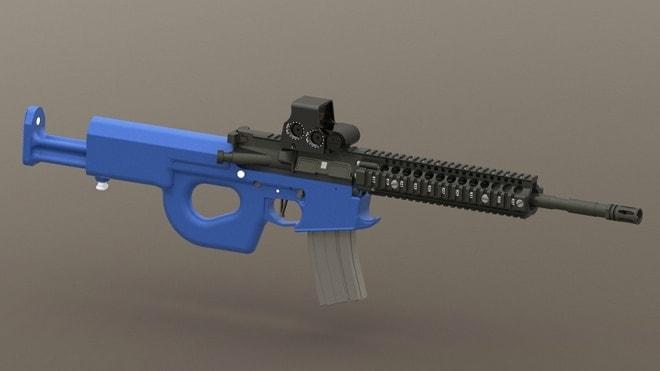 Charon Family - Carbine, Adjustable Stock, Mockup