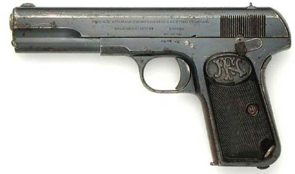 The FN 1903 pistol in 9mm Long
