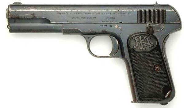 The FN 1903 pistol in 9mm Long