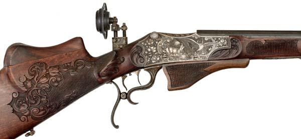 German Schuetzen rifle by Miller Valgrass.