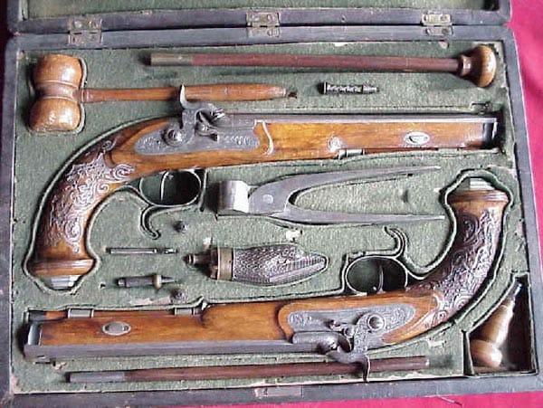 German Bossel dueling pistols