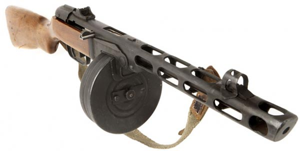 PPSH 41 machine gun.