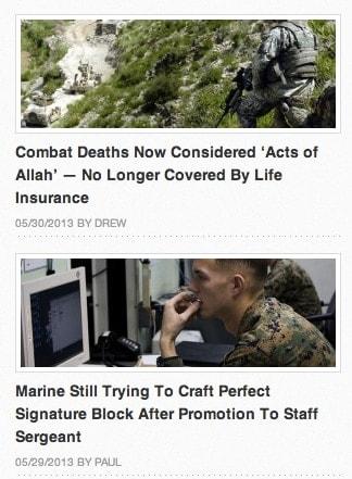 Duffle Blog News Stories