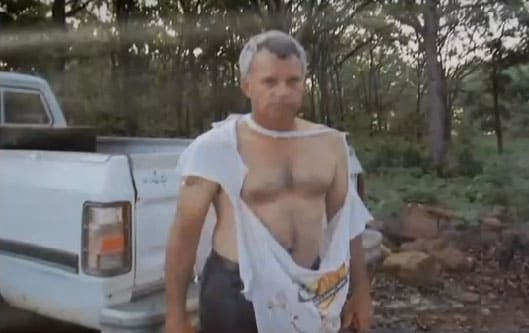 Gill shredded Frank's shirt during the ordeal. (Photo credit: News on 6)