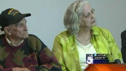 Jan Cooper and her husband. (Photo credit: KTLA 5)
