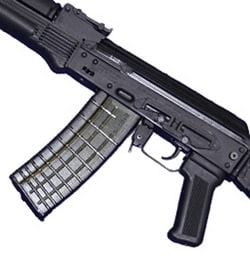 The left side of a stock 106