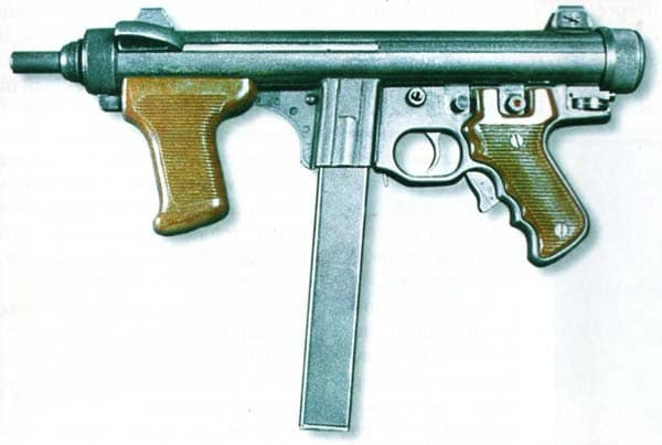Beretta M12 with plastic grips.