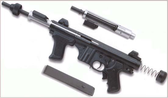Beretta M12, broken down.