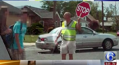 Scott Becker, the Penn. crossing guard who was told to hang up his holster. (Photo credit: ABC 6, Philadelphia)