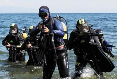Divers with APS rifles