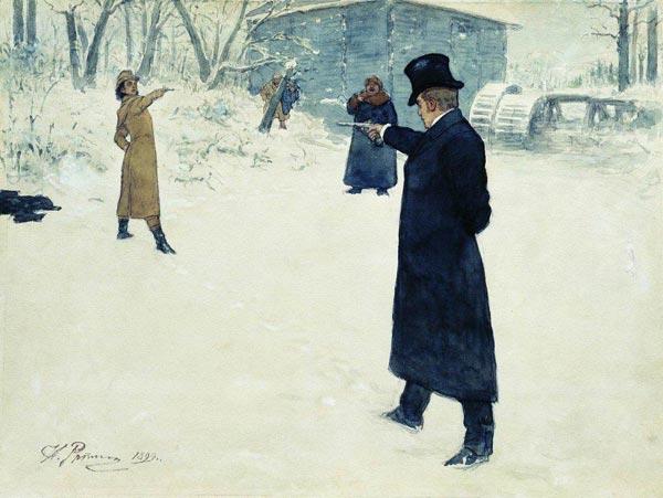 Duel between Onegin and Lenski, 1899