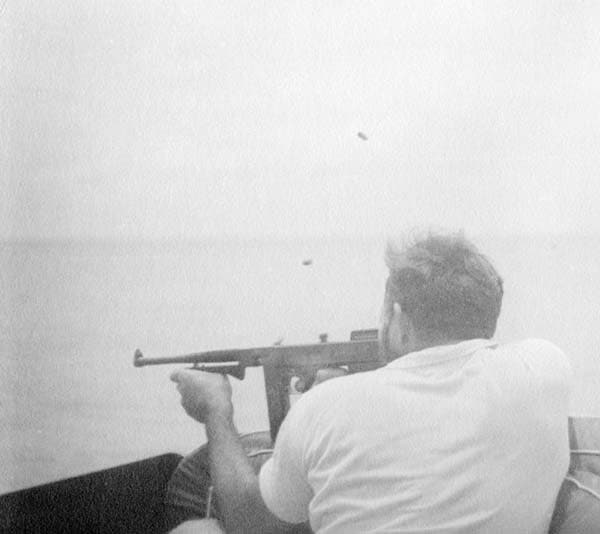 Hemingway and M1921 Tommy Gun
